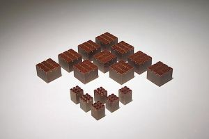 Blocs d'incorporation 1.25cm x 1.25cm x 1.75cm,pqt/10